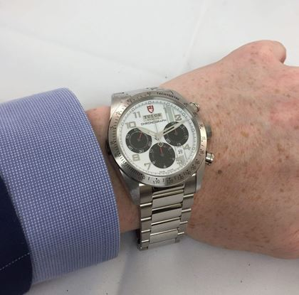 Tudor 42000 chronograph white vintage mens watch