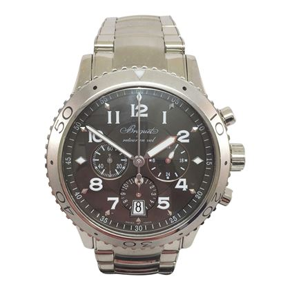 Breguet Type XXI Ref. 3810 ST/92, Retour en Vol stainless steel vintage mens watch