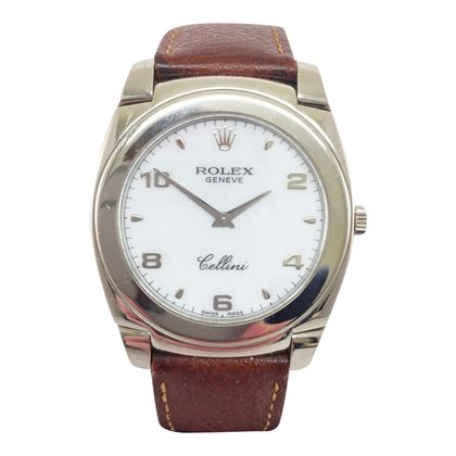 Rolex Cellini 5330 18 carat white gold vintage mens watch