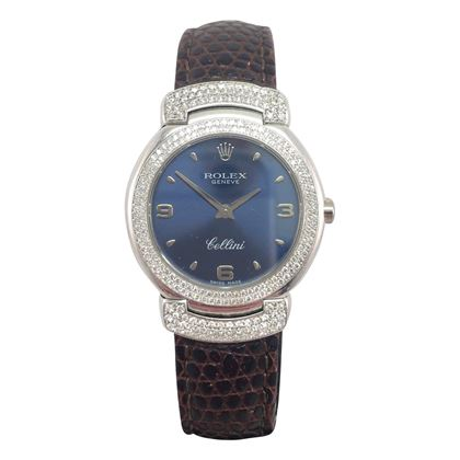 Rolex Cellini 6673 18 carat white gold vintage womens watch