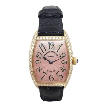 Picture of Franck Muller Curvex 1752 Qz 18 carat yellow gold vintage ladies watch