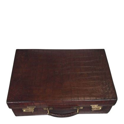 Vintage 1930s Crocodile hide luggage Case