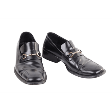Gucci Leather Mens black vintage Loafers Shoes