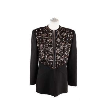 Andre Laug Embellished black vintage Evening Jacket