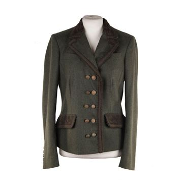 Ermanno Scervino Green Loden Wool Jacket