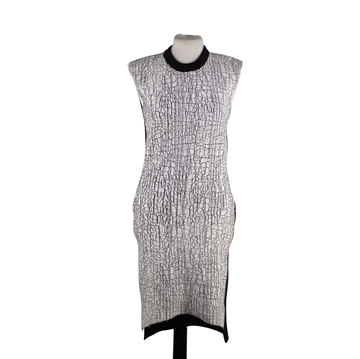 Picture of Balenciaga Black Wool & Cashmere Crackled Sleeveless Vintage Dress
