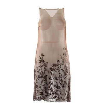 Alberta Ferretti Transparent floral glitter vintage dress