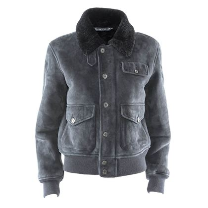 Ralph Lauren Sheepskin Blue Vintage Jacket