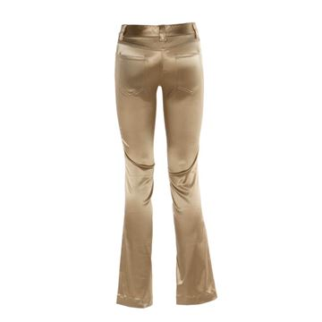 Dolce & Gabbana Satin Flared Gold Vintage Trousers