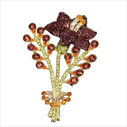 Carlo Zini Flowers brooch