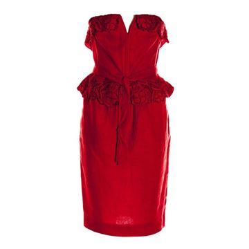 Andrea Odicini Linen red vintage dress