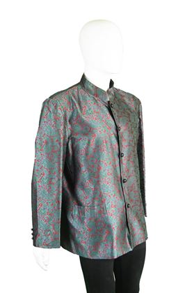 Yves Saint Laurent 1960s Early Mens Rive Gauche Silk Jacket