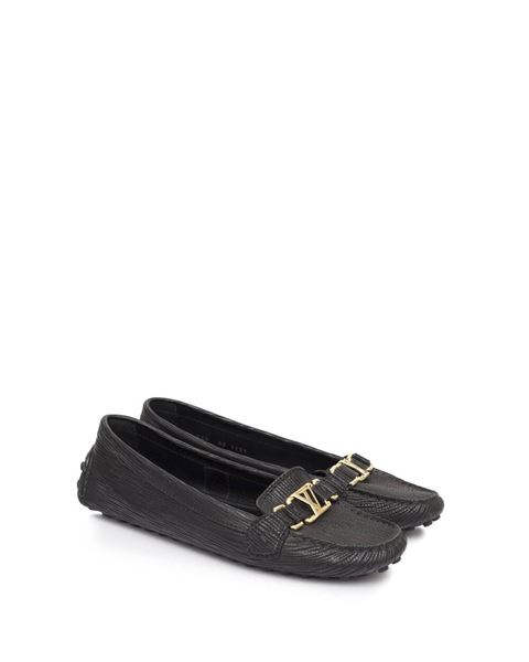 c9a978ecb1f6 Louis Vuitton Oxford leather black vintage Loafers