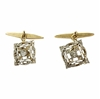 Antique Art Nouveau 18 carat gold and diamond cufflinks