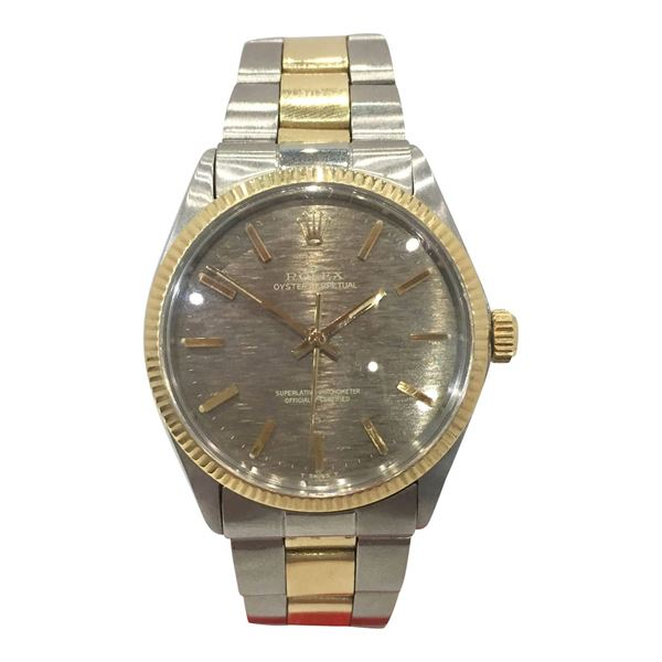 Rolex Oyster Perpetual Datejust 18 carat yellow gold and stainless steel mens watch