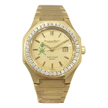 IWC Schaffhausen Yacht Club II solid gold vintage mens watch