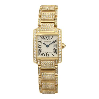 Cartier Tank 18K yellow gold ladies vintage watch