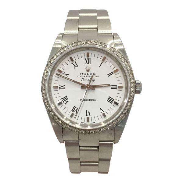 Rolex Air-King Precision stainless steel vintage mens watch