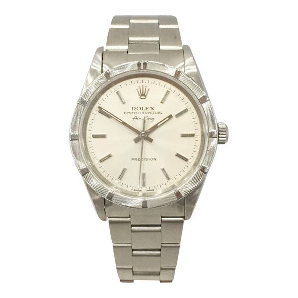Rolex Air-King stainless steel vintage mens watch