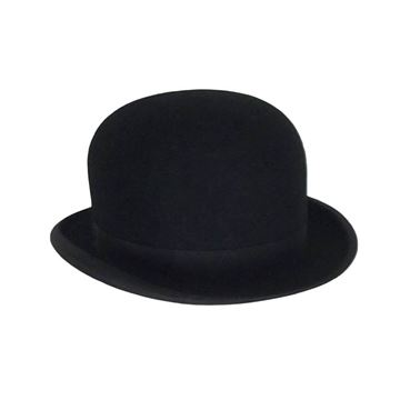 Lock & Co 1950s mens Bowler black vintage Hat
