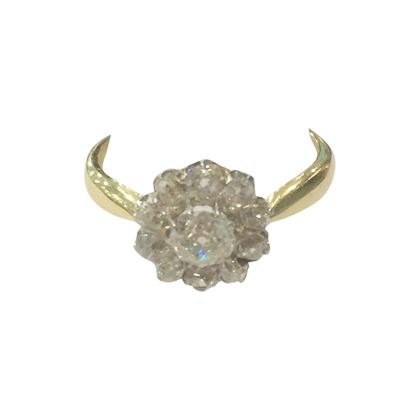 Antique Late Victorian Diamond Cluster Ring