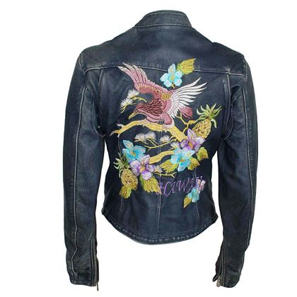Dolce & Gabbana Hawaii embroided denim blue vintage jacket