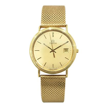 74c4d37a82c ... Omega 18ct yellow gold vintage mens watch