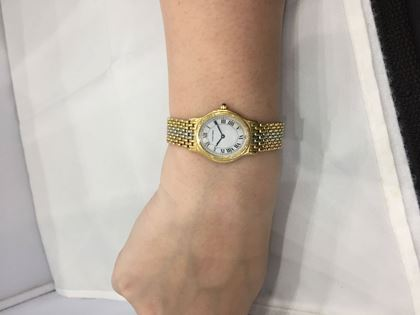 Cartier three gold vintage ladies watch
