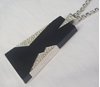 Trifari 1970s Black & Diamante Vintage Necklace