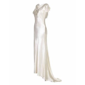 Picture of Vintage 1930s Ivory Satin Bias Cut Wedding Dress