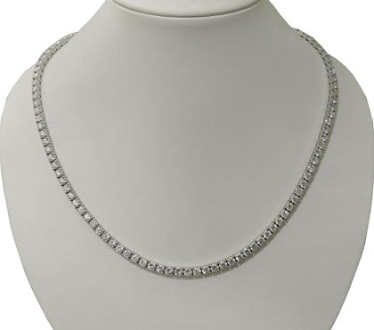 Diamond and white gold ladies vintage necklace