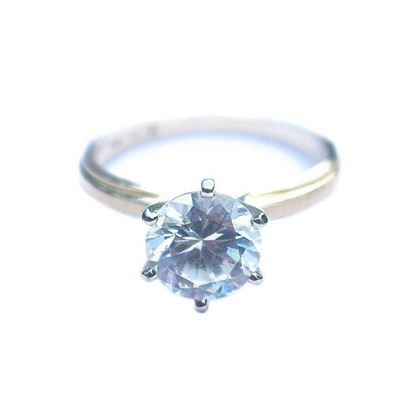 14K Gold & Diamonique Cubic Zirconia Solitaire Ring