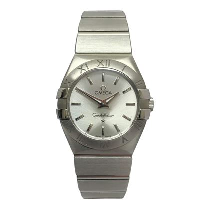 Omega Constellation silver ladies watch