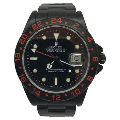 Rolex Explorer II after market black mens watch