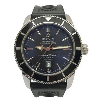 Breitling Superocean oversize black mens vintage watch