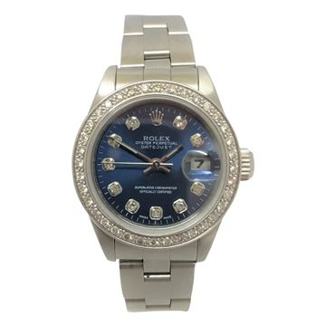 Rolex Datejust vintage ladies watch with diamond bezel