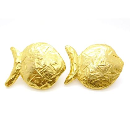 Edouard Rambaud Vintage 1980s Gold Earrings