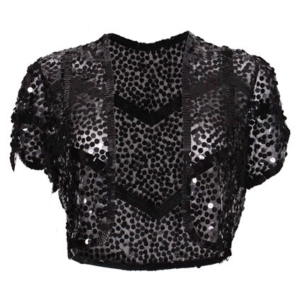 Vintage 1920s Black Sequin Bolero jacket