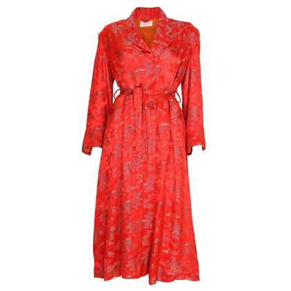 Vintage 1950s Chinese style red Dressing Gown
