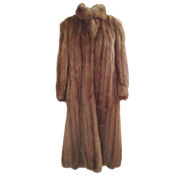 Vintage Bargouzine Sable Fur brown coat