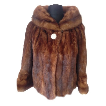 Henri Bordand Sable Fur brown vintage jacket