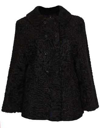 Vintage 1960s Persian Lamb black Jacket