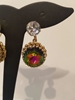 Elsa Schiaparelli 1980s Watermelon Gold Tone Vintage Earrings