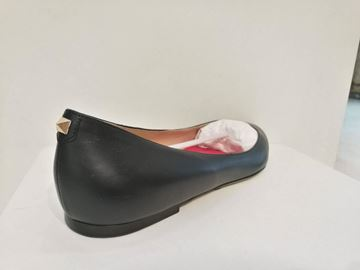 Valentino Pointed Toe Stud Detail Black Vintage Ballerina Pumps