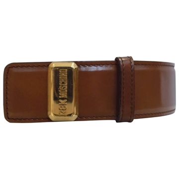 Moschino 1990s 28k Brown vintage Belt