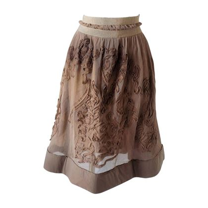 1980s-philosophy-by-alberta-ferretti-light-brown-nude-skirt-nwot