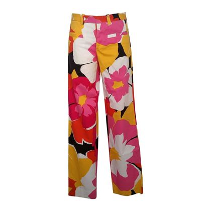 Gucci by Tom Ford 1990s Limited Edition Floral Multicoloured Vintage Trousers