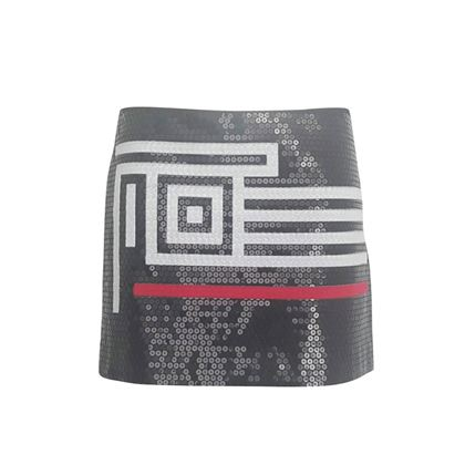 Gianfranco Ferrè 1990s Sequin Black Vintage Mini Skirt
