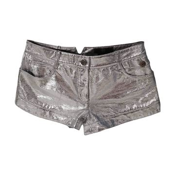 Alexander McQueen McQ Silver Vintage Hot Pants