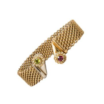 18kt Gold Vintage bangle Bracelet